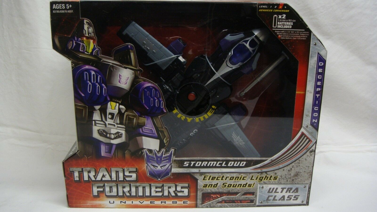 TRANSFORMERS UNIVERSE RID STORMCLOUD ULTRA CLASS LIGHT SOUND NEW SEALED