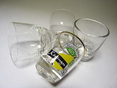 Ruhrglas 50s Mid Century Gläser Zielsetzung 4x Schnapsglas Stamper Pinnchen Shot Glass