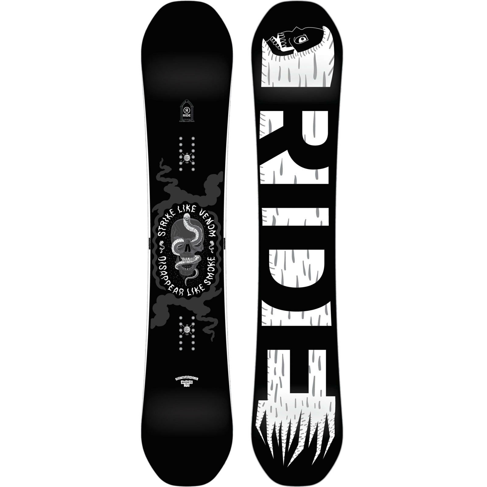 Ride Machete Men's Snowboard all Mountain Freestyle Freeride 2019 New