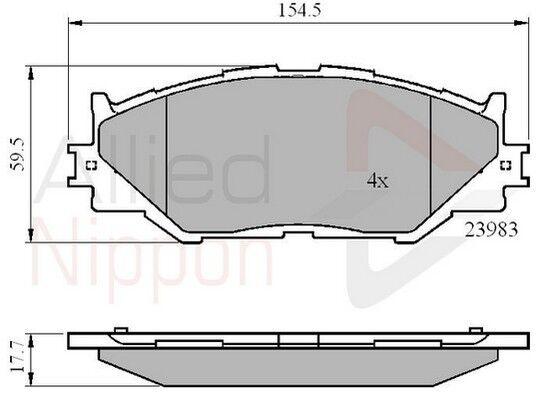 Mintex Front Brake Pad Set MDB2747 GENUINE BRAND NEW 5 YEAR WARRANTY