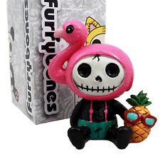 "Furry Bones Flamingo Star Costume Skeleton Monster Collectible Figurine 3""H"