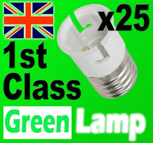 25 x Lamp Light Bulb Socket Base Converter Edison Screw Bayonet Cap E27 to B22