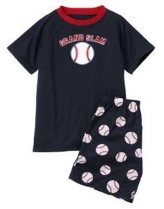 yr Gymmies Gymboree,NWT pajama short set,Baseball,sz.12,18,24M,4