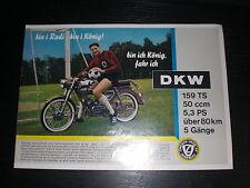 Prospekt Sales Brochure DKW 50ccm Mokick Kleinkraftrad Moped ZU 159 TS Victoria