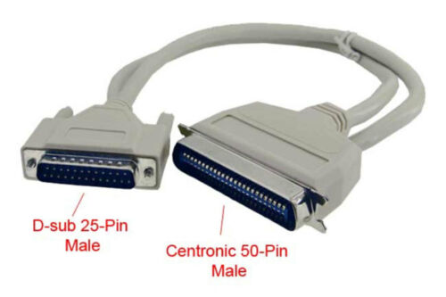 SCSI DB25M - CN50M Cable 3FT DB25 Male to CN50 Male SCSI 50-Conductors Cable