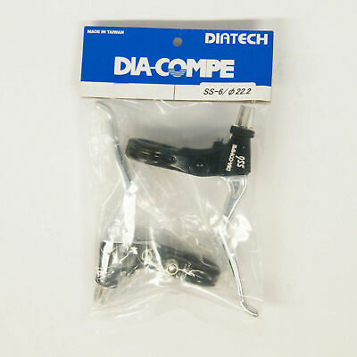 Pair Black x Silver DIA-COMPE SS-6 BRAKE LEVER