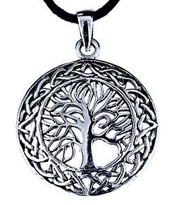 99 Nr Lebensbaum Anhänger 925 Silber Yggdrasil Weltenbaum Baum Band//Kette