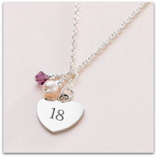 30th Cumpleaños Etc 21st Personalizado Collar con piedra natal para 16th 18th