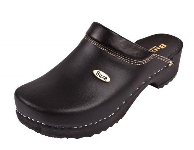 Zuecos De Madera Color Negro Estilo Sueco F10 EE. UU. Talla Zapato para Hombres