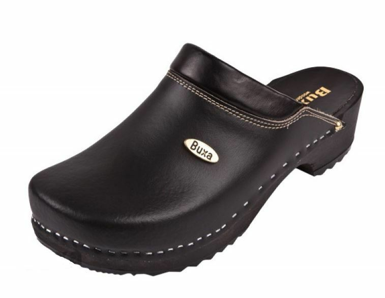 Wooden clogs     Black color   Swedish style  F10   US shoes Size  Men's