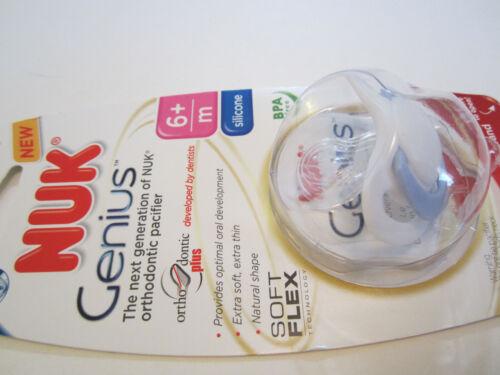 6+ months NIP BPA Free Size 2 NUK Genius orthodontic pacifier