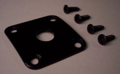 GIBSON Style BLACK METAL Les Paul Custom JACK PLATE LP
