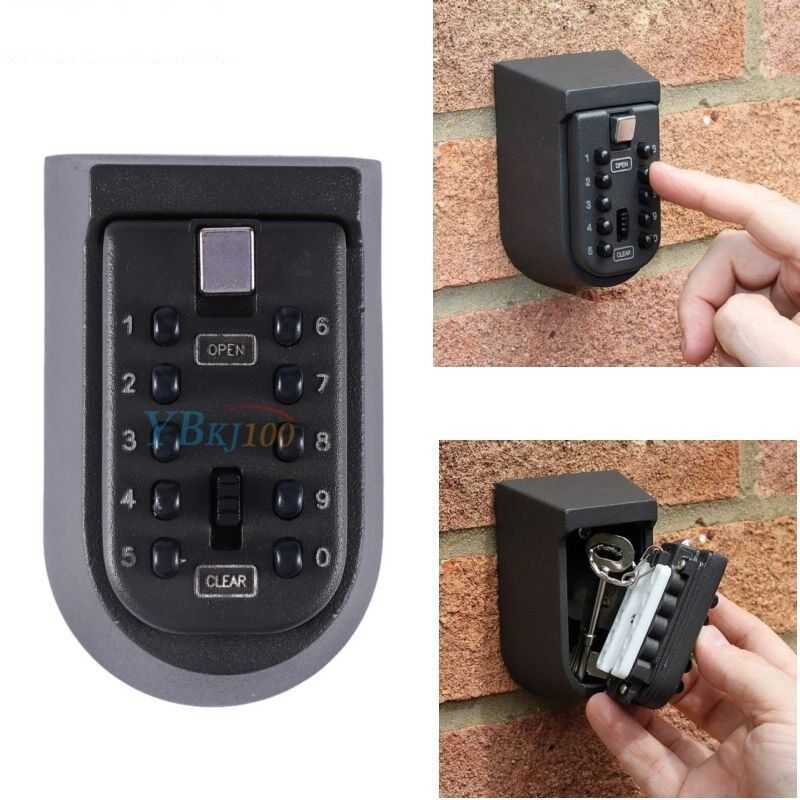 Outdoor Key Safe Box Combination Security Keys Holder Lock W
