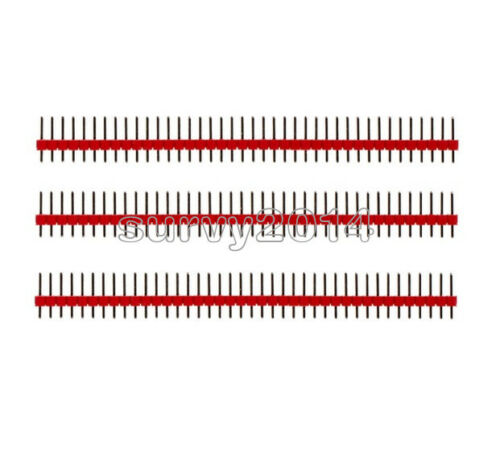 10PCS 40Pin 1x40P Male 2.54mm Breakable Pin Header Strip 40P Red Color
