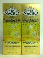 2 Tio Nacho Shampoos Natural Lightening 14oz/shampoo Tio Nacho Aclarante Natural