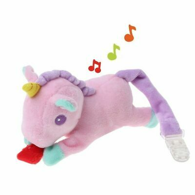 BABY GIRL PASTEL COLOUR PLUSH UNICORN PACIFIER//DUMMY HOLDER SAVER CLIP GIFT