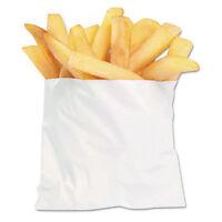 Bagcraft Pb3 French Fry Bags 4 1/2 X 2 X 3 1/2 White 2000/carton 450003 on Sale