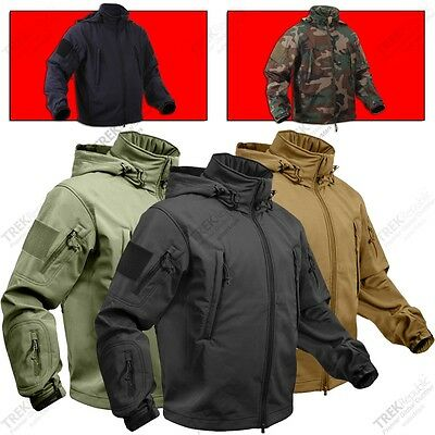 Softshell Jacket WaterProof Special Ops Military Tactical Jacket Size: XS to 4XL