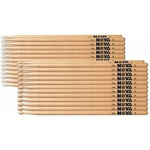 12-PAIA-UNO-Brick-VIC-FIRTH-Nova-in-legno-Tip-5B-BATTERIA-bastoncini