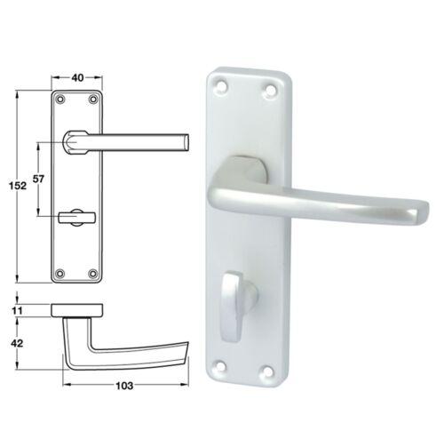 HAFELE CRANSLEY satin anodised lever handles with backplates
