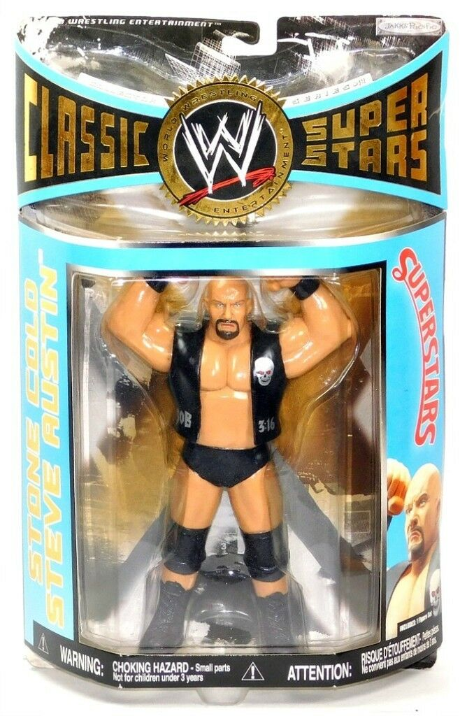 WWE Classic SuperStars Series 14 LJN Stone Cold Steve Austin bluee Card