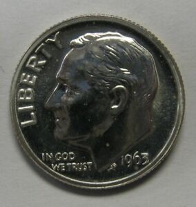 FREE SHIPPING -- 1963 ROOSEVELT PROOF DIME