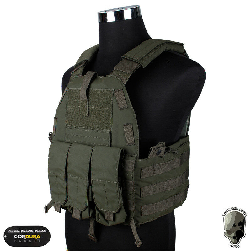 TMC Tactical Vest 94K Plate Carrier Body Armor Pouch Military Hunting Molle Duty
