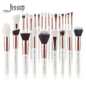 Jessup-Professional-Makeup-Brush-Set-Powder-Blush-Eyeshadow-Face-White-Rose-Gold