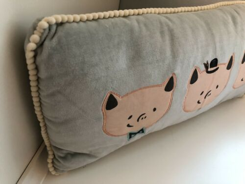 Hallmark Baby Decorative Pillow with Three Little Pig Faces