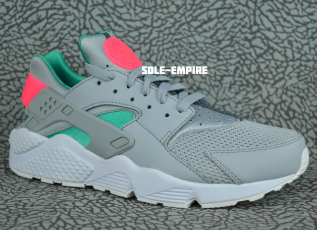 best sneakers 39cb5 e05af Nike Air Huarache 318429-053 Wolf Grey Sunset Pulse South Beach Men s NEW  IN BOX