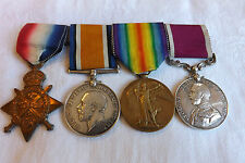 Original Military WWI Medal Group Long Service Good Conduct Mons Star Trio (2190