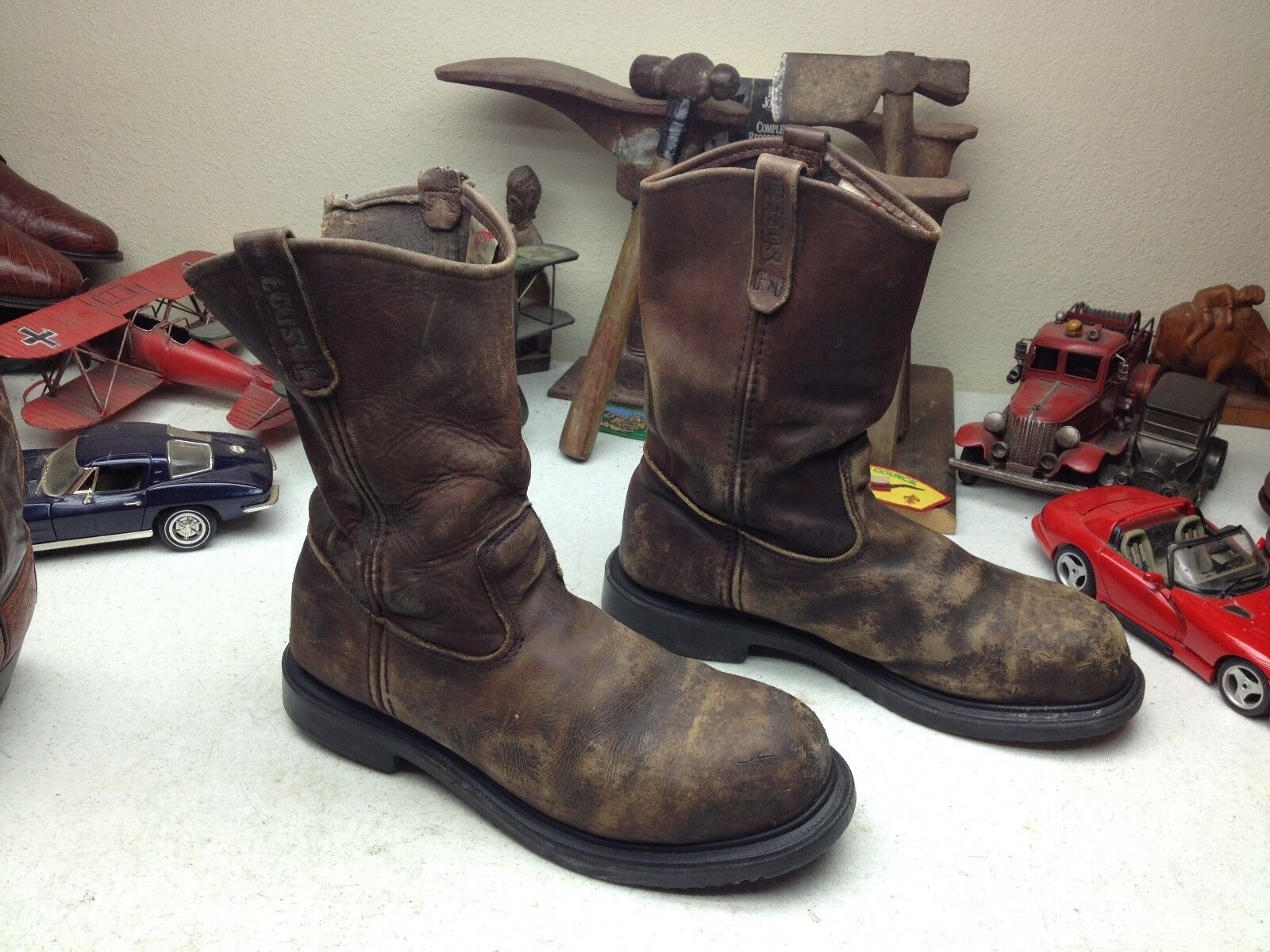 rot WING WING WING 2231 DISTRESSED USA braun LEATHER OIL RIG TOOL PUSHER BOSS Stiefel 11.5 D f6ca64