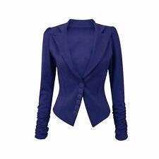 B Collection by Bobeau Womens Baron Navy Office Knit Blazer Jacket M BHFO 7210