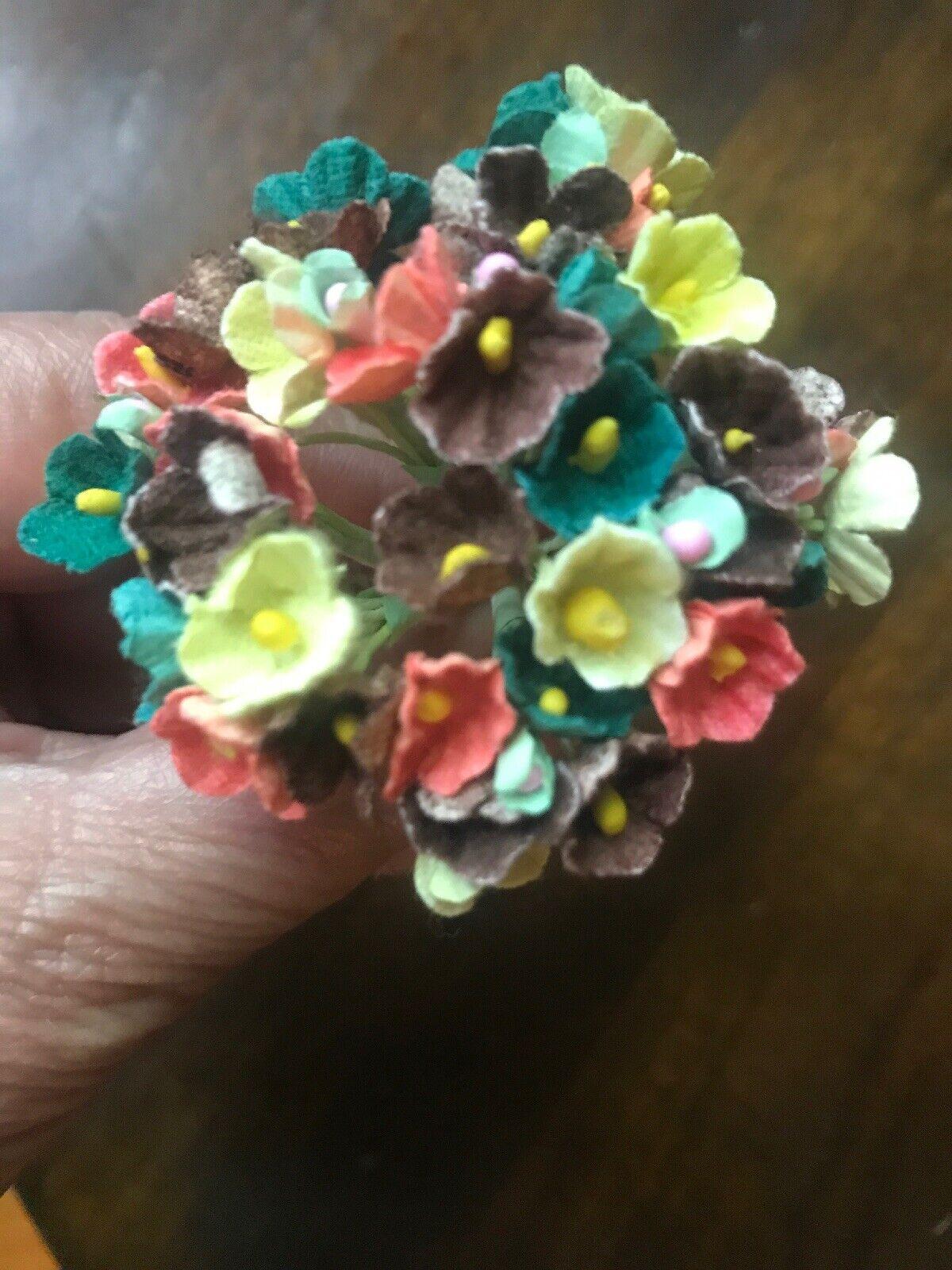 Millinery Flower Black Heather 12 stem Bunch for Hat Wedding Hair NQ2a