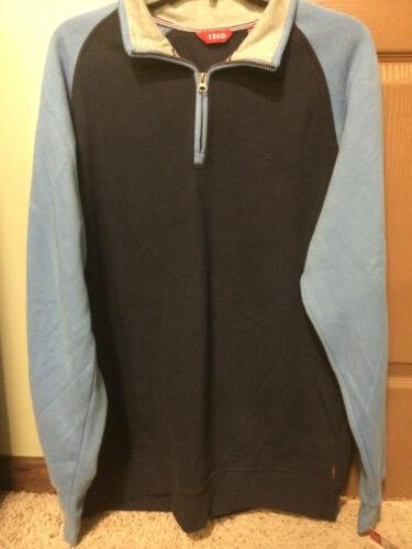 NWT Izod Men/'s 1\4 Zip Sueded Fleece Pullover Blue MANY SIZES MSRP $60