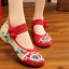 Chinese-Embroidered-Floral-Shoes-Women-Ballerina-Flat-Ballet-Cotton-Loafer-snug thumbnail 31