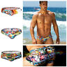 New Style Comics Swimwear Fashion Men's Swim Trunks Bikini Briefs Beach Wear