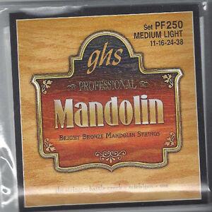 GHS Professional Mandolin Strings Set PF250 Medium Light (Bright Bronze)