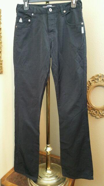 Silver Clothing Jeans Black Shiny Straight Legged Canada 27x32 Fashion Jean Pant