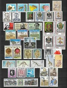 East-Germany-GDR-DDR-All-stamps-of-1990-in-a-year-set-complete-MNH