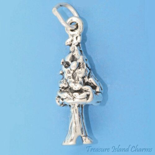 Le chandelier ~ Coast Redwood Sequoia arbre 3D .925 Solid Sterling Silver Charm