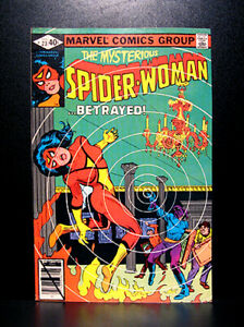 COMICS-Marvel-Spider-Woman-23-1980-1st-Gamesman-app-RARE