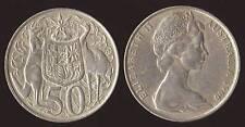 AUSTRALIA 50 CENTS 1966 ARGENTO/SILVER CANGURO KANGAROO+EMU