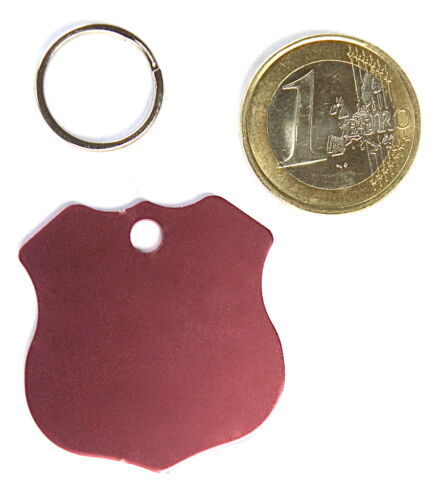 MEDAILLE GRAVEE CHIEN ROSE INSIGNE POLICE GRAND MODELE gravure 1 ou 2 face