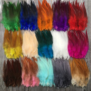 Wholesale-50-1000pcs-Beautiful-High-Quality-Rooster-Feathers-4-6-Inches-10-15-Cm