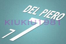 Italy Del Piero #7 2002 Homekit Nameset Printing