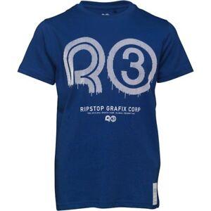 Ripstop-Junior-Boys-Klitch-Maz-T-Shirt-Age-7-8-Years-BNWT-RRP-16-98-Royal-Blue