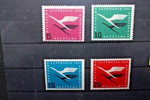 FRANCOBOLLI-GERMANIA-GERMANY-1955-034-LUFTHANSA-AEREI-034-NUOVI-MNH-SET-CAT-2