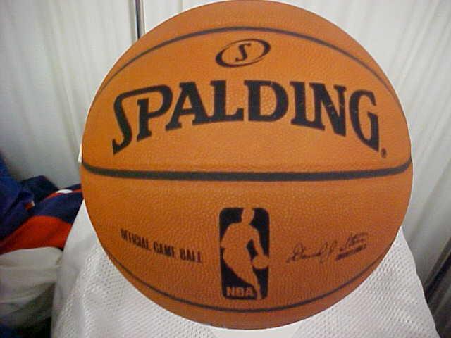 Oficial Spalding NBA Raro 1 año seis Panel Juego problema baloncesto David J. Stern