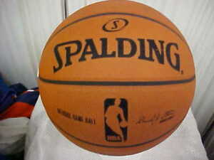Stern Good Official Spalding Nba Rare 1 Year Six Panel Game Issue Basketball David J Game Used Memorabilia